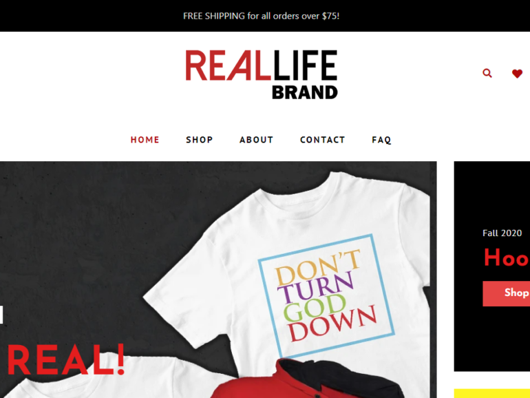New Website for Real Life Brand